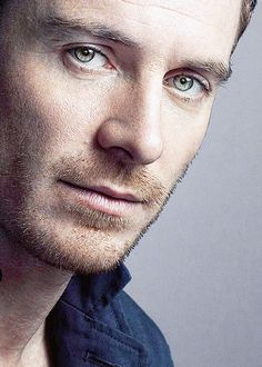 Michael Fassbender. Sometimes I can't tell if his eyes are blue, green or grey...but they're beautiful! skg