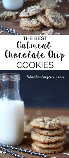 Simply The Best Oatmeal Chocolate Chip Cookies! This cookie recipe is a family favorite, so make sure you bake enough to go around. Come see the special ingredient that makes them so special!