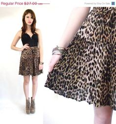 Vintage Leopard Mini Full  Drawstring Circle by theVintageSideShow, $24.00