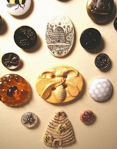 Bee button collection ~ her discussion of each one is cool, too.