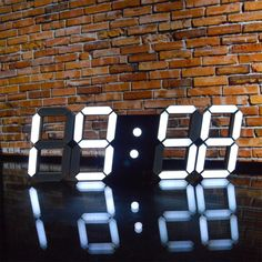 Awesome Remote Control Large LED Digital Wall Clock