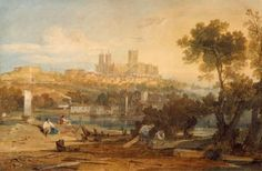 Joseph Mallord William Turner 'Lincoln Cathedral from the Holmes, Brayford', c.1802–3 © Usher Gallery, Lincoln