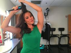 These news anchors share their tips for flawless makeup and voluminous hair.
