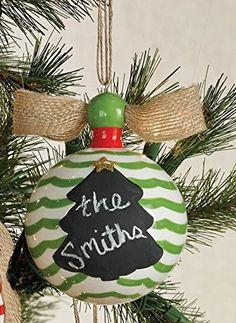 Mud Pie Christmas Chalk Ornaments (Tree)