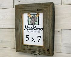 Barn Wood Picture Frame Classic-2 150 custom sizes | Etsy Fine Furniture, Furniture Making, Barn Wood Picture Frames, Change Picture, Thing 1, Weathered Wood, Clear Acrylic, Hanger, Tooth