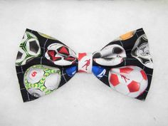 ROWS OF COLORFUL SOCCER BALLS PRE-TIED BOW TIE - Kickin' it!