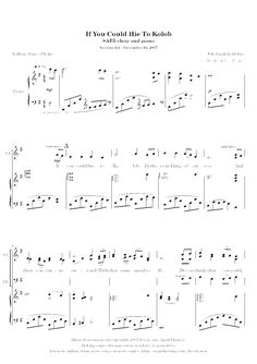 If You Could Hie to Kolob (by David Thomas -- SATB)