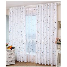 Fun Half Price Kids Room White Colorful Moon And Star Curtains