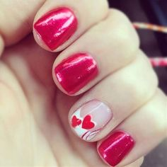 It is an easy nail designs for short nail... - Click image to find more nail art posts