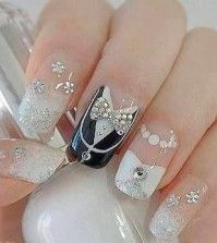 11 Bridal Nail Art Designs So Killer, You Can Flaunt Your Ring With Confidence Long Nail Designs, Beautiful Nail Designs, Cute Nail Designs, Pretty Designs, Wedding Day Nails, Wedding Nails Design, Perfect Nails, Gorgeous Nails, Cute Nails
