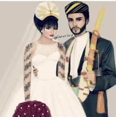 Yemen Sanaa, Floral Wreath Watercolor, Girly Drawings, Fight For Us, Bad Girl Aesthetic, Wedding Cake Toppers, Traditional Dresses, Art Girl, Cute Pictures