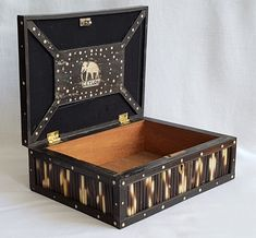 Antique Anglo Indian Porcupine Quill & Ebony Box