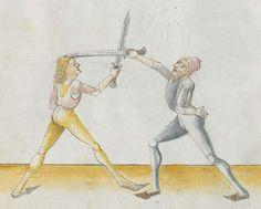 Lecküchner, Hans: Kunst des Messerfechtens Nordbayern, 1482 Cgm 582 Folio 34
