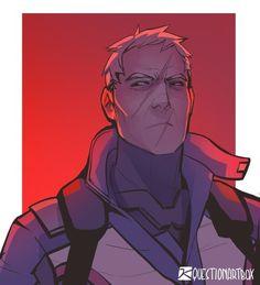Overwatch Drawings, Overwatch Fan Art, Jack Morrison, Overwatch Wallpapers, Fantasy Heroes, Art Of Love, Widowmaker, Nerd Geek, Gay Art