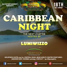 Café Mojo Mumbai presents the Caribbean Night with Lumi Wizzo this Sunday. Get transported to the Caribbean atmosphere staying here with some great music, drinks and company! #CafeMojo #Pubs #Party #Beer #Fun #Beers #Enjoy #GoodTimes #OntheBar  #Parties #PartyMusic #DrinkLocal #Music #Dance #Pub #Drinks #EatLocal  #BeerDrinks #Mumbai