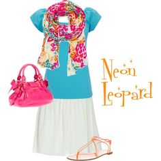 """""""Neon Leopard"""" by snickersmama on Polyvore"""