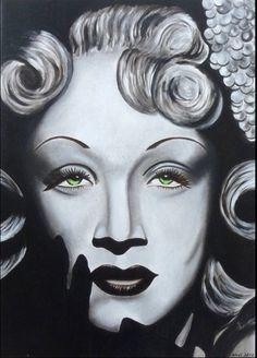 Marlene Dietrich 3 Acryl 50 x 70 cm