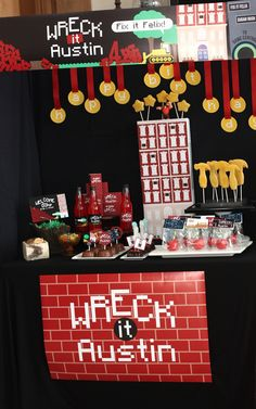 Wants and Wishes: Party planning: Wreck it Ralph Birthday Party