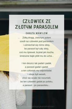 Wiersz jesienny. Jesień. Wiersze dla dzieci. Ann, Classroom, Cards Against Humanity, Education, Kids, Literatura, Class Room, Young Children, Boys