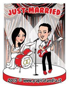 Caricature sposi e scherzi matrimonio ideematrimonio scherzimatrimonio regalosposi - Scherzi per letto degli sposi ...