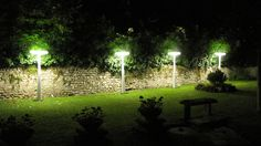 A bright #garden with #Equilibre outdoor lamps by #Prandina  www.prandina.it