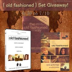 "{ends 7/10} Enter To Win the ""old fashioned"" set Giveaway!! *Just Click the Link, Comment on the blog post and you are entered. Good Luck Everyone! A true old fashioned relationship can be more exciting and romantic than anything you've ever experienced! So what does it mean to do things the old fashioned way? Sure, it means opening doors, holding out chairs, and taking things slow. But a true old fashioned romance goes much, much deeper than that."