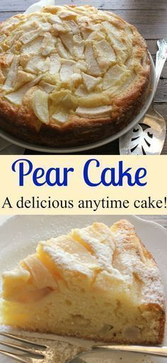 Pear Cake, a delicious moist Italian cake made with fresh pears and mascarpone. A perfect breakfast, snack or anytime cake recipe/anitalianinmykitchen.com