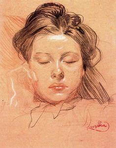 Sleeping Face - Frantisek Kupka
