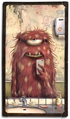 Wood Illustration Fantasy 64 Ideas For 2019 Art And Illustration, Monster Illustration, Illustrations, Cute Monsters, Little Monsters, Cartoon Monsters, Fantasy Kunst, Fantasy Art, Drag