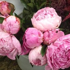 Pretty peonies for the first Friday of the year #prettyinpink #pinklover #peonies #peony