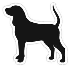 Coonhound Silhouette Waterproof Die-Cut Sticker