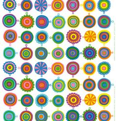 Love the colors and fun feel of this Marimekko pattern.