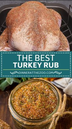 This turkey rub is a blend of savory spices that come together to make the ultimate poultry seasoning. Homemade Spices, Homemade Seasonings, Turkey Recipes, Mexican Food Recipes, Best Turkey Rub Recipe, Dry Rub Recipes, Poultry Seasoning, Best Turkey Seasoning, Gastronomia