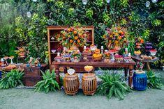Candy Table Decorations, Diy Wedding Decorations, Decor Wedding, Baby Shower Deco, Bridal Shower, Wedding Table, Rustic Wedding, Havana Nights Party, Wedding Planning