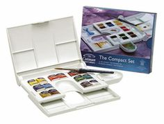 Watercolor sets--another great set by Cotman, very transparent, clear pigments, mix very easily $20/set, the brush in this set if very good