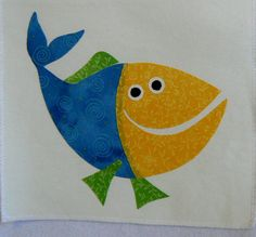 Fish Applique The Blue and Yellow Fish Applique by MontanaTwirls, $6.00