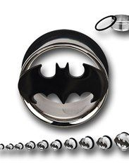 Batman 316L Surgical Steel Tunnel Plugs A MUST have when I finish stretching my ears