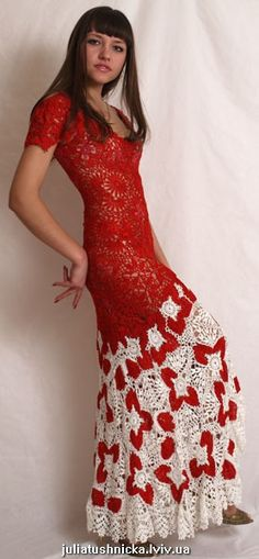 I love this red! Lots of good diagrams and some really neat free form crochet products.