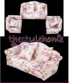 1:12 dollhouse miniature furniture stripe sofa chair for bed room living room BS