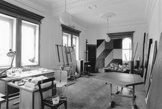 Helga Philipp, Atelier in der Hansenvilla, um 1990