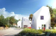 Utopia Arkitekter – Tre vita villor i Sköndal