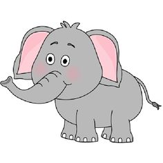 cute baby elephant clip art elephant looking behind clip art image rh pinterest com free elephant clip art for printing free elephant clipart black and white