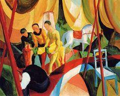 August Macke (Allemagne, 1887-1914) – Zirkus (1913) Museo Thyssen-Bornemisza, Madrid