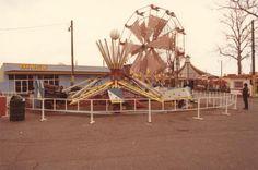 Scrambler and Ferris Wheel at Marshall Hall Park Maryland.