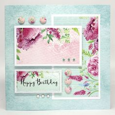 Card made by Neil Burley, using Heritage Rose collection from Craftwork Cards