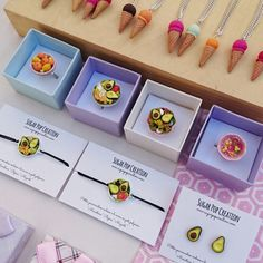 Miniature food jewelry by Sugar Pop Creation  Handmade in Marseille, France