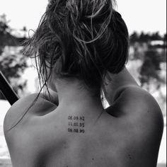 Birth dates tattoo cool idea for kids birthdays on a mom