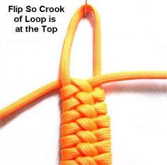bug belly bar knot for bracelets or purse straps