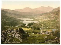 Capel Curig and Snowdon, Wales c1890s