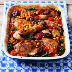 Chicken And Chorizo Bake